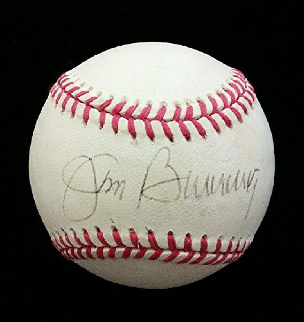 JIM BUNNING SINGLE SIGNED OFFICIAL AMERICAN LEAGUE