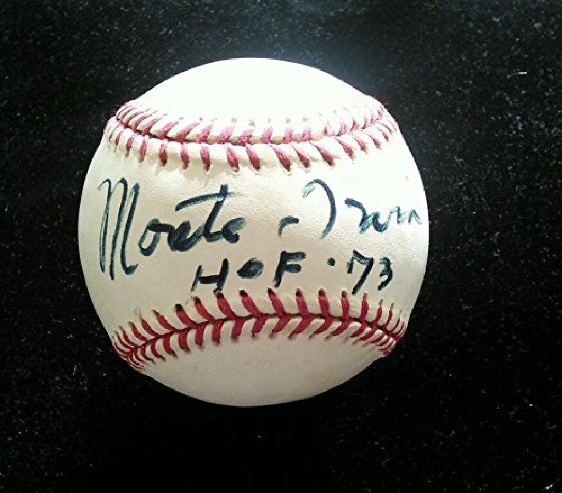 Monte Irvin Signed Leonard Coleman Baseball w/ HOF 73