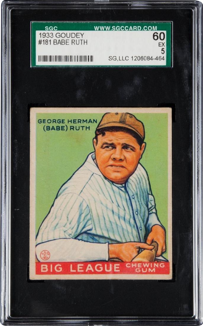 1933 Goudey Babe Ruth #181 SGC 5