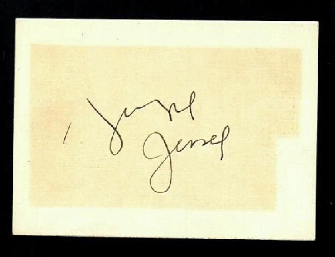 GEORGIE JESSEL SIGNED CARD THE JAZZ SINGER VINTAGE