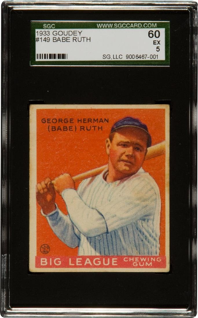 1933 Goudey Babe Ruth #149 SGC 5 60