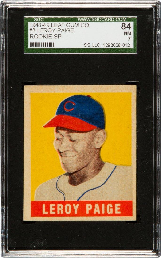 1948-49 Leaf Gum Co. # 8 LeRoy Paige Rookie Card SGC 7