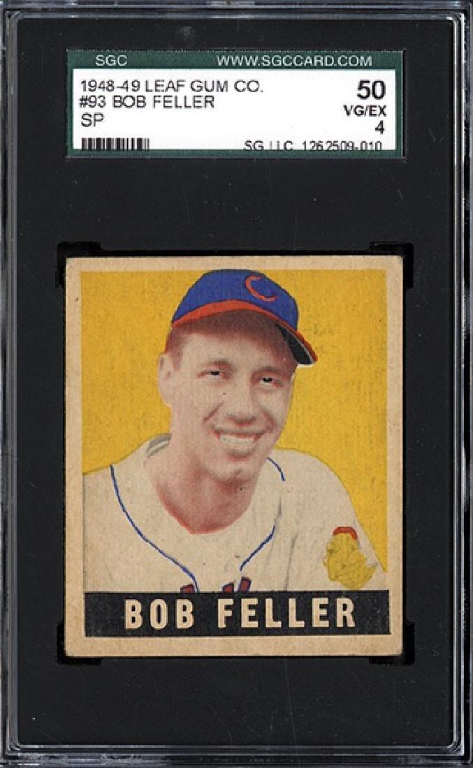 1948 Leaf #93 Bob Feller SGC 4