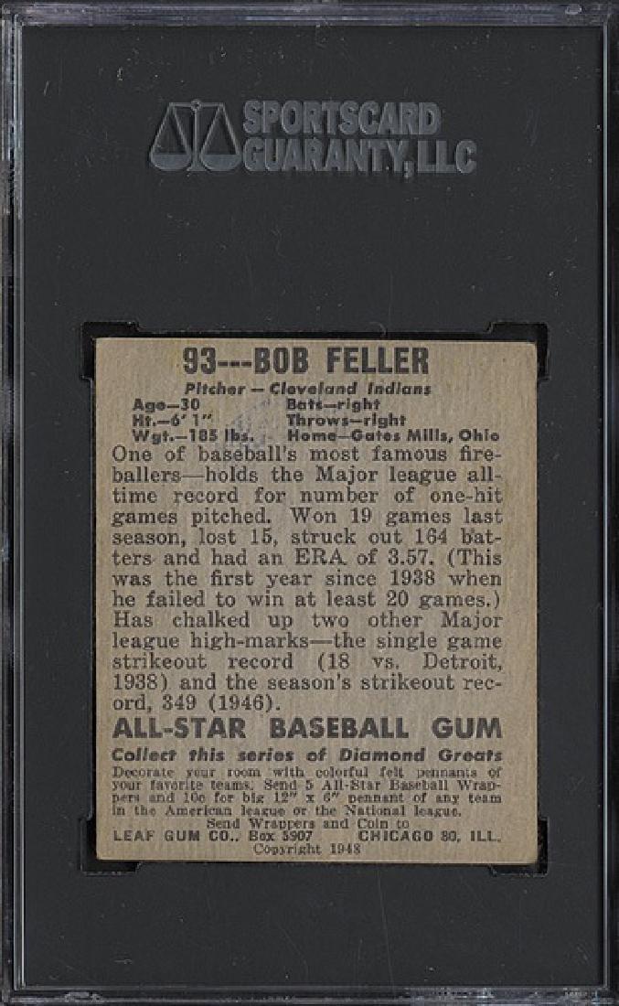 1948 Leaf #93 Bob Feller SGC 4 - 2