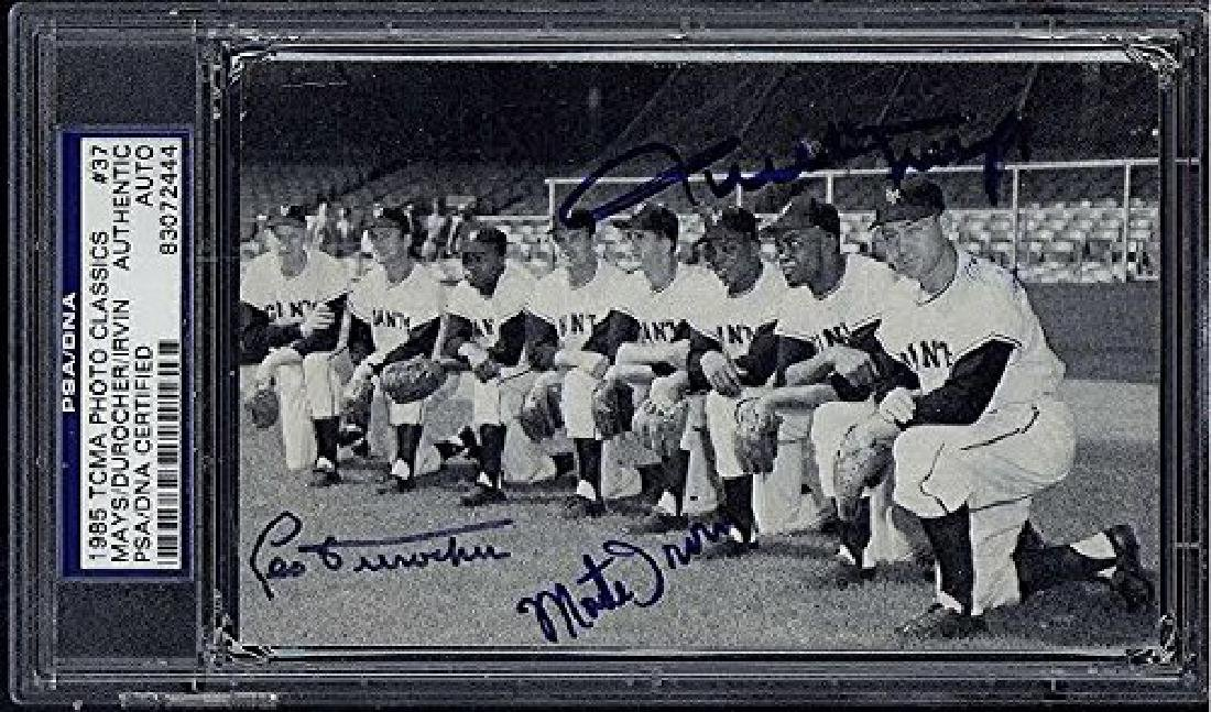 1985 TCMA PHOTO CLASSICS SIGNED BY MAYS DUROCHER AND