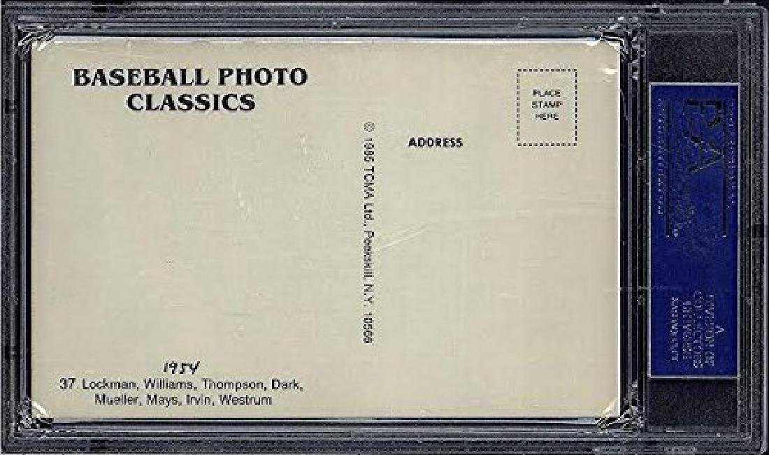 1985 TCMA PHOTO CLASSICS SIGNED BY MAYS DUROCHER AND - 2