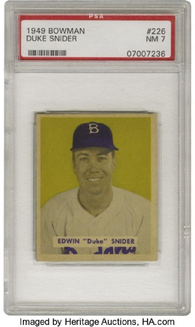 PSA 7 1949 Bowman #226 Duke Snider NM