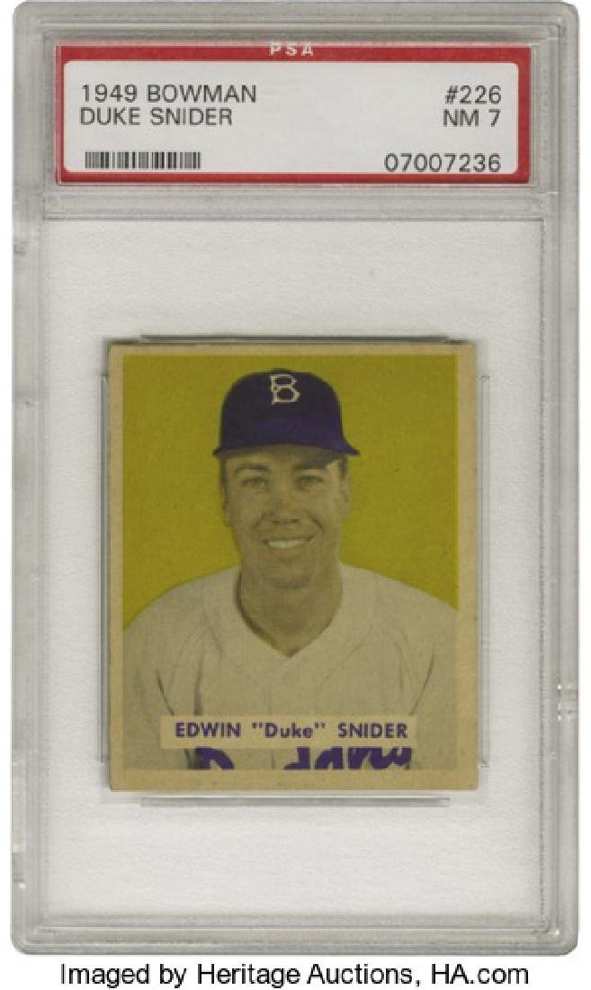 PSA 7 1949 Bowman #226 Duke Snider NM