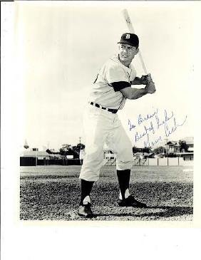 Norm Cash Signed 8x10 Type 1 Black and White Photograph