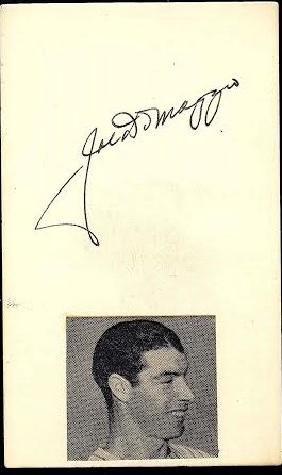 Joe DiMaggio Signed Index Card JSA (Rookie Signature)