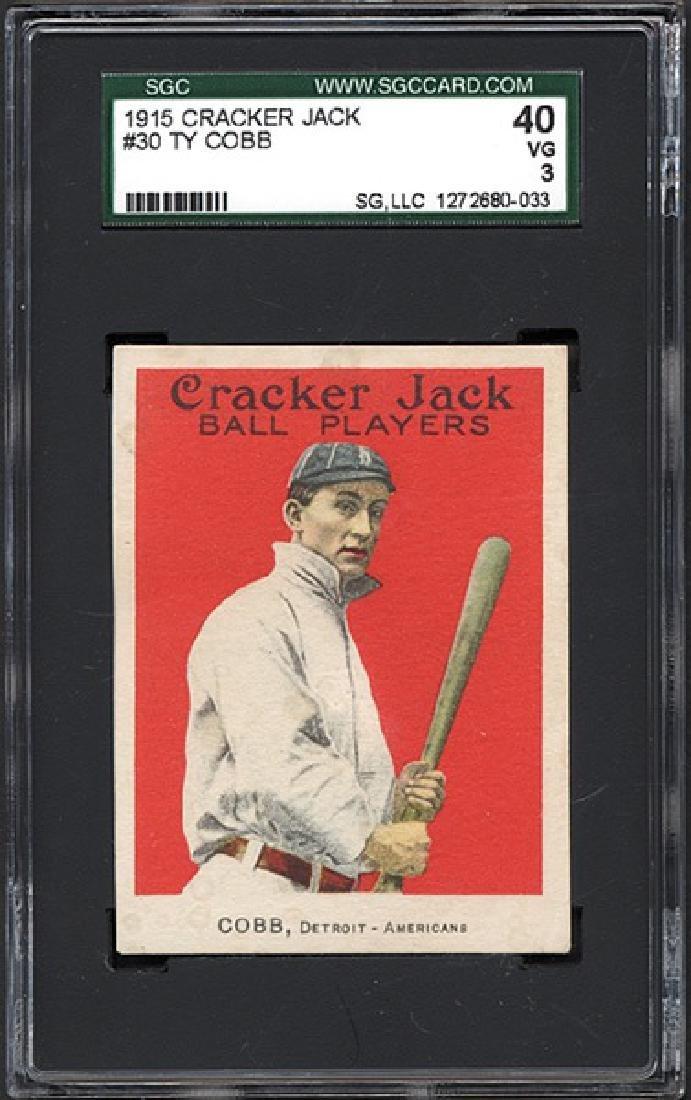 SGC 3 1915 E145 Cracker Jack #30 Ty Cobb