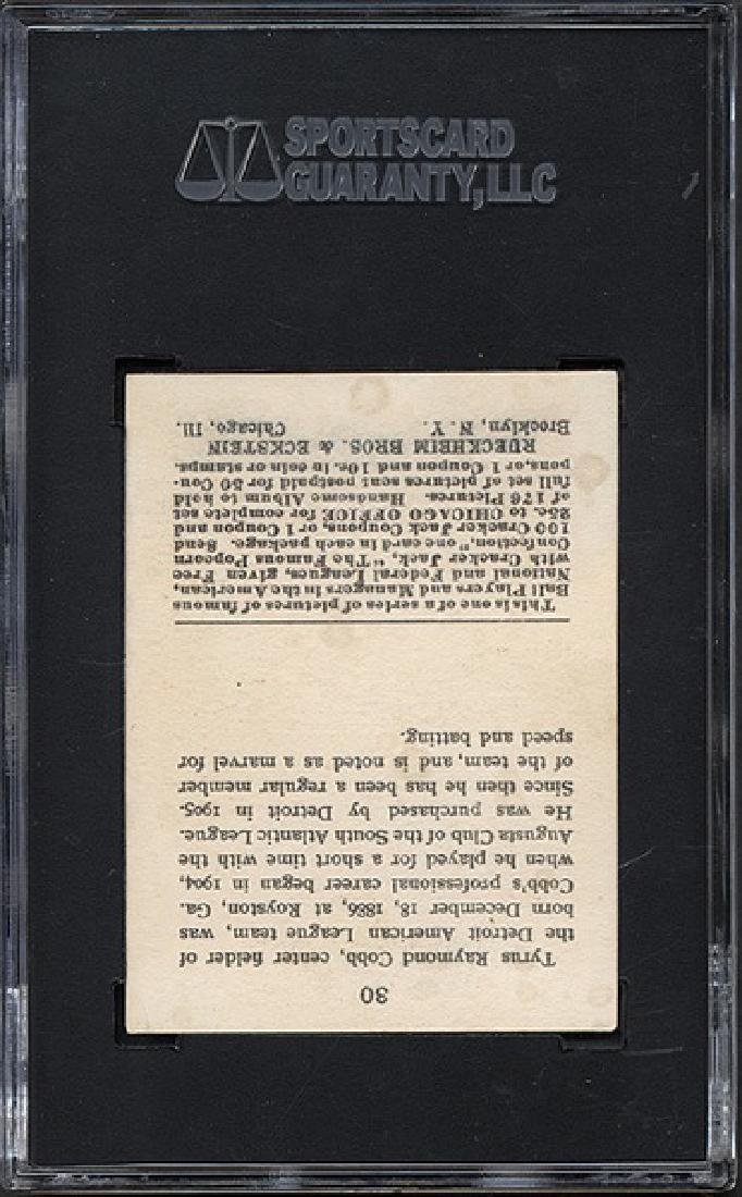 SGC 3 1915 E145 Cracker Jack #30 Ty Cobb - 2