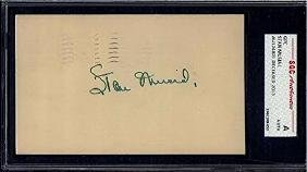 STAN MUSIAL SIGNED GPC POSTCARD DATED 1952 SGC VINTAGE