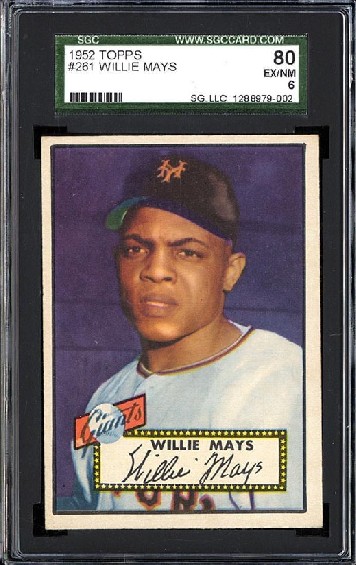 SGC 6 1952 Topps #261 Willie Mays