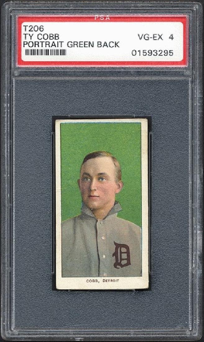 PSA 4 1909-1911 T206 Ty Cobb - Green Background
