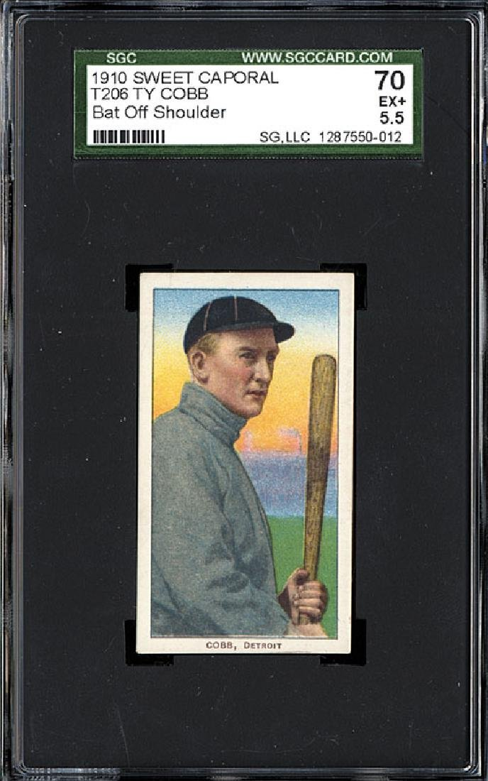 SGC 5.5 1909-1911 T206 Ty Cobb - Bat Off Shoulder