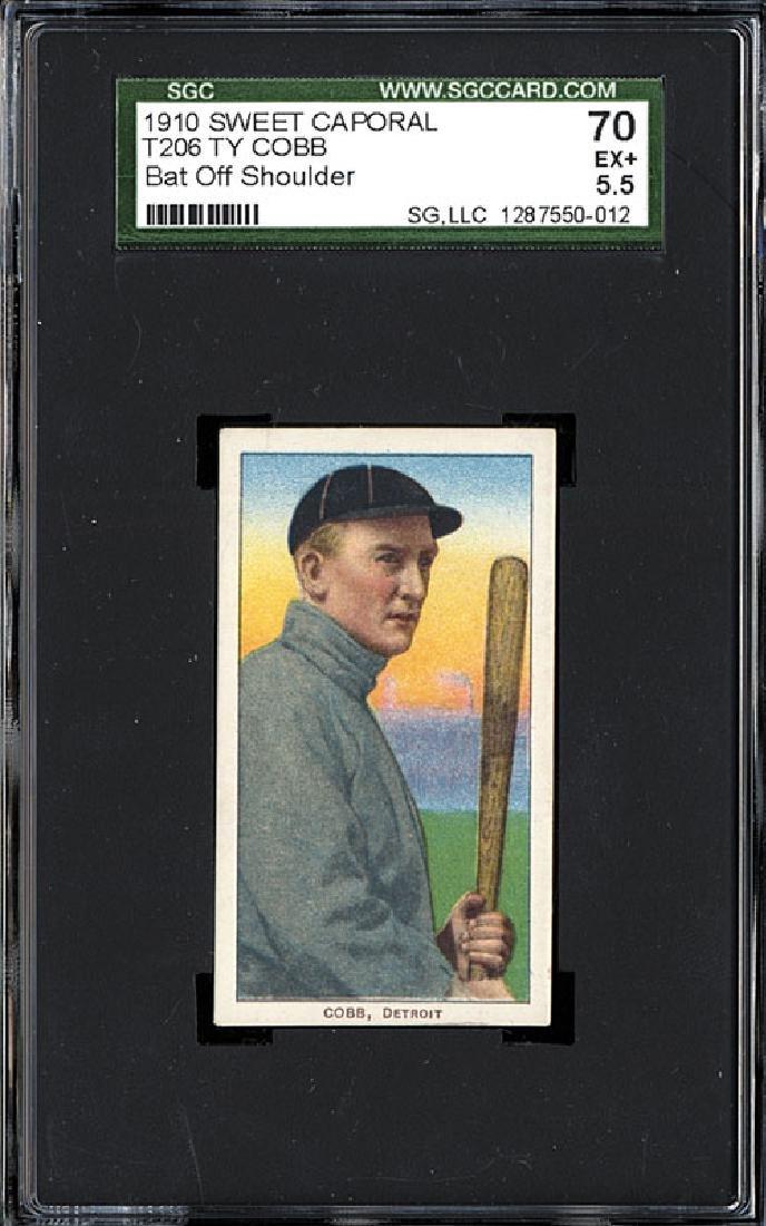 SGC 5.5 1909-1911 T206 Ty Cobb - Bat Off Shoulder