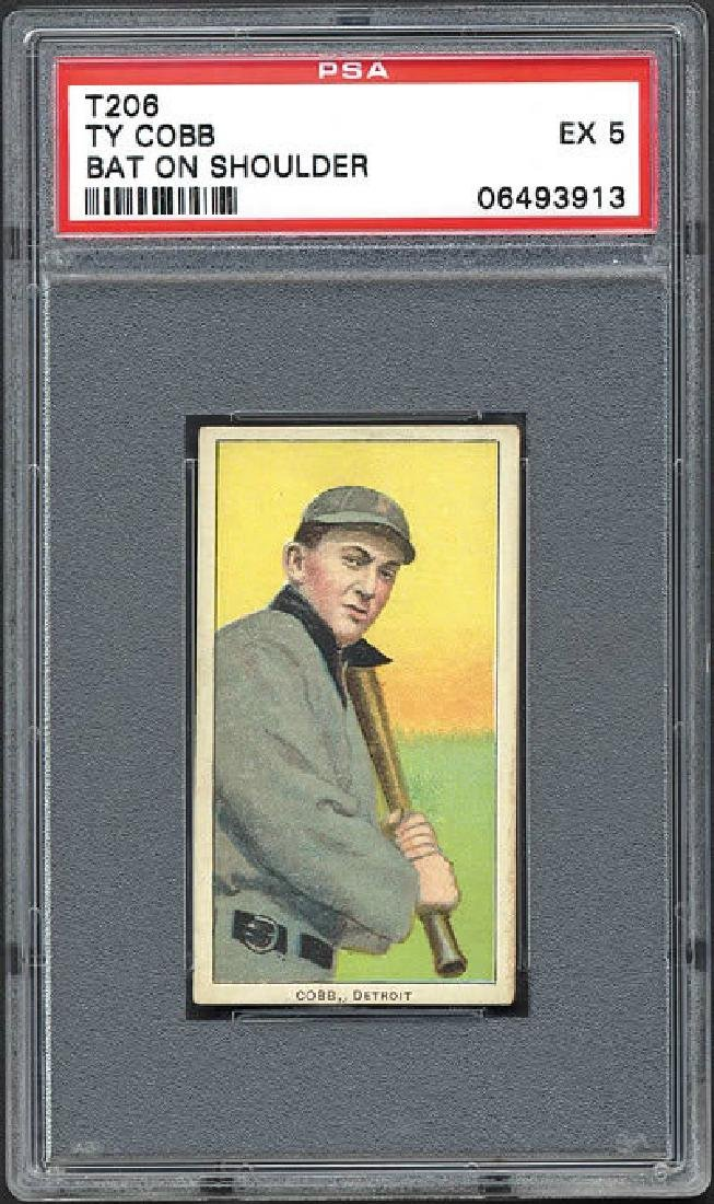 PSA 5 1909-1911 T206 Ty Cobb Bat On Shoulder