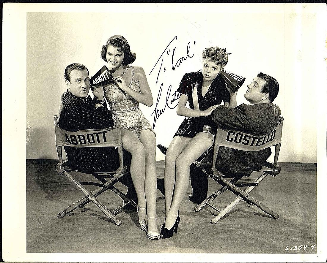 Photograph of Bud Abbott and Lou Costello Signed By