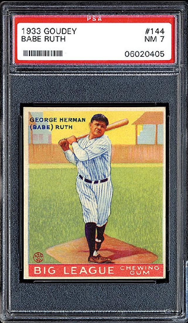 PSA 7 1933 R319 Goudey #144 Babe Ruth