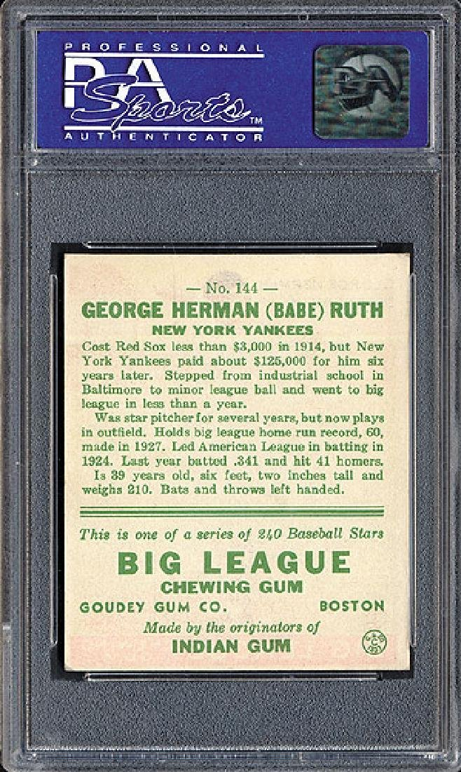 PSA 7 1933 R319 Goudey #144 Babe Ruth - 2
