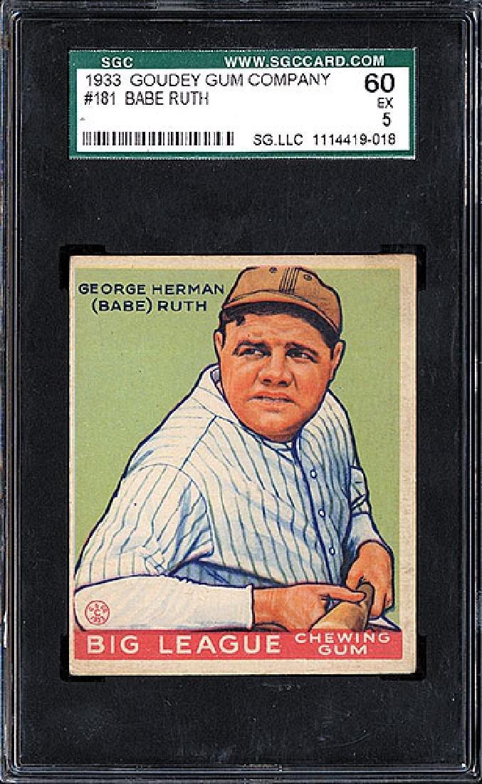 SGC 5 1933 R319 Goudey #181 Babe Ruth