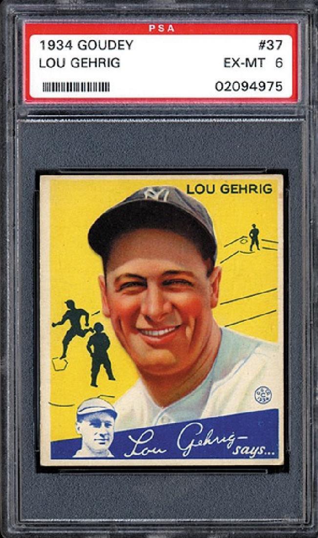 PSA 6 1934 R320 Goudey #61 Lou Gehrig