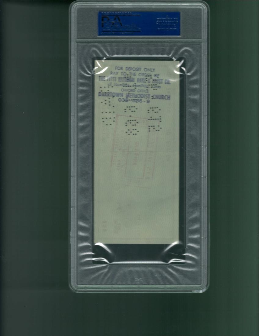Walter Alston Signed Check PSA/DNA Mint 9 - 2
