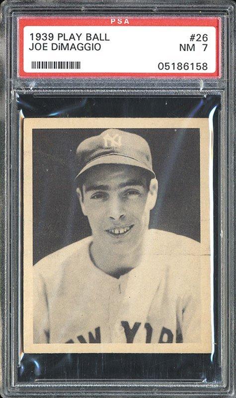 PSA 7 1939 Play Ball #26 Joe DiMaggio