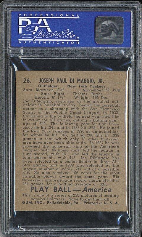 PSA 7 1939 Play Ball #26 Joe DiMaggio - 2