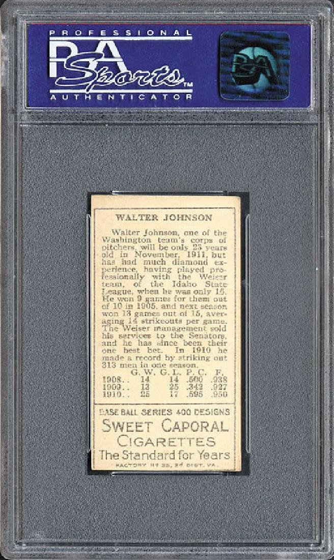 PSA 6 1911 T205 Gold Border Walter Johnson - 2