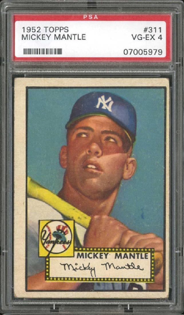 PSA 4 1952 Topps #311 Mickey Mantle