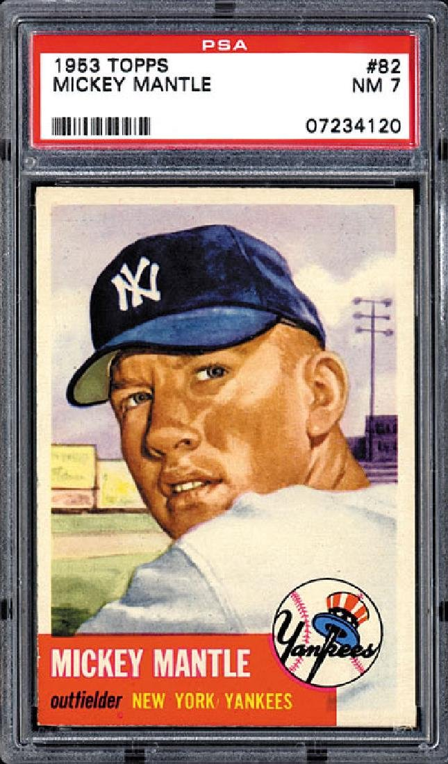 PSA 7 1953 Topps #82 Mickey Mantle