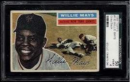 1956 Topps #130 Willie Mays Gray Back Card SGC 4 (50