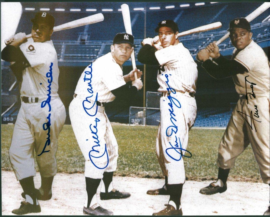 Duke Snider, Mickey Mantle, Joe DiMaggio and Willie