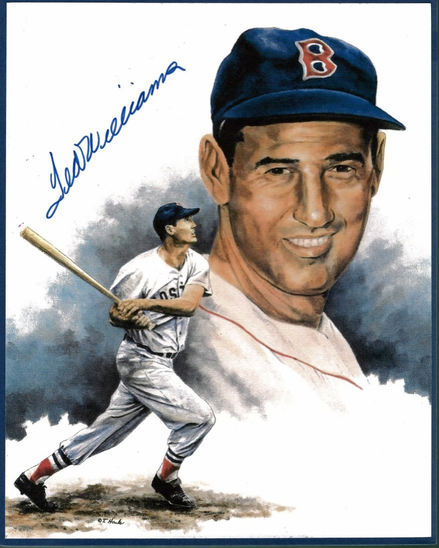 Ted Williams Signed 8 x 10 Print Certified by the Score