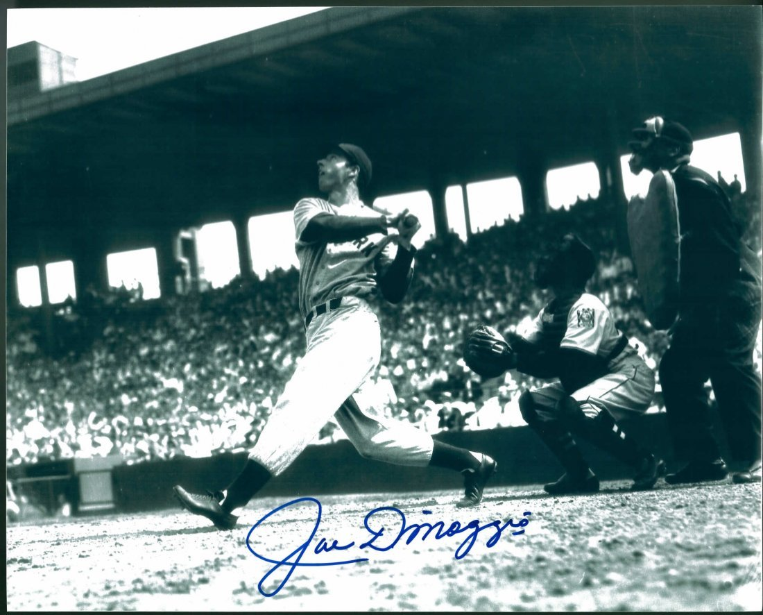 Joe DiMaggio Signed 8 x 10 Photograph Certified by The