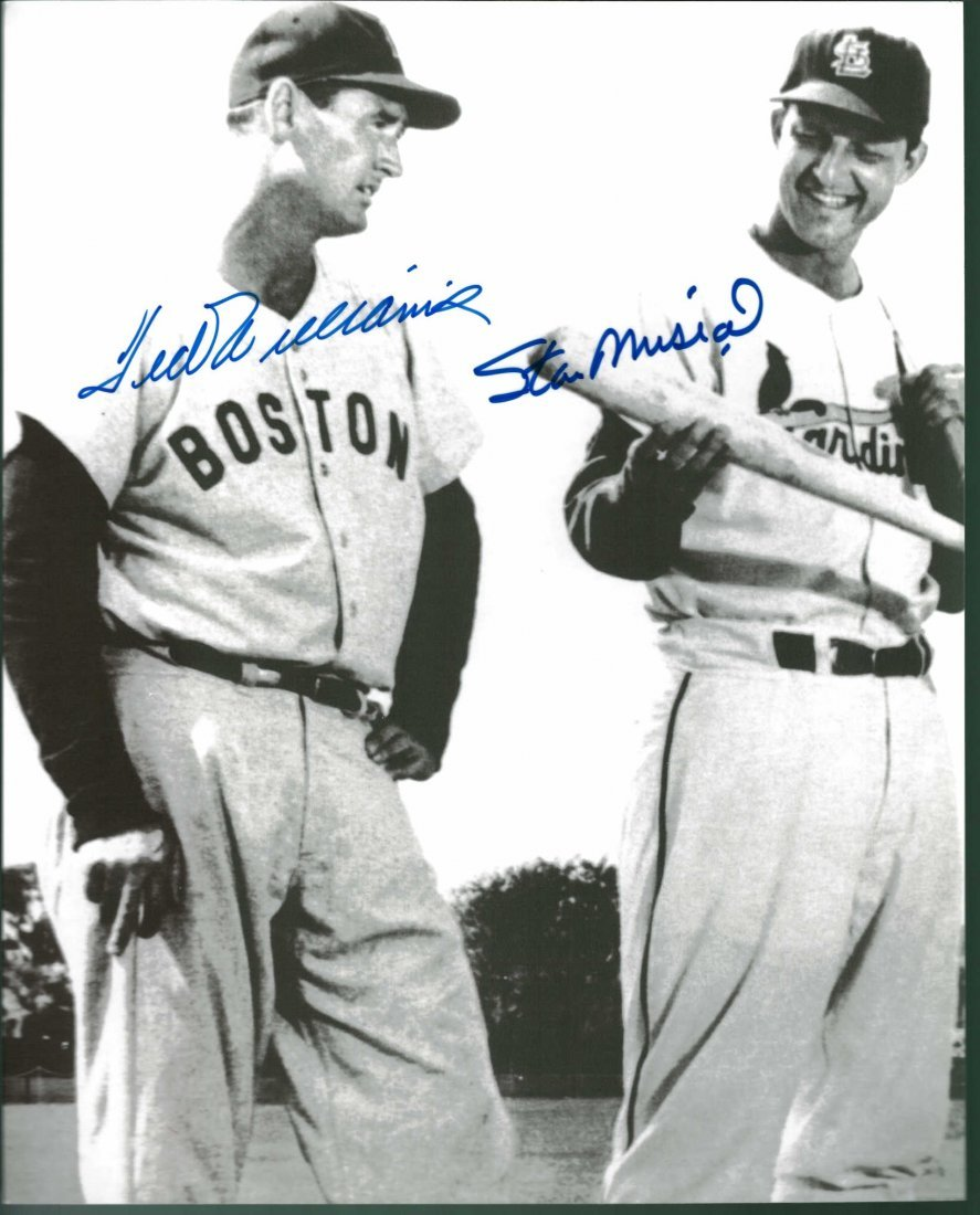 Ted Williams and Stan Musial Signed 8 x 10 Photograph