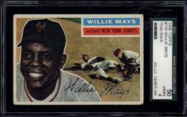 1956 Topps #130 Willie Mays Gray Back SGC 4 (50 Very