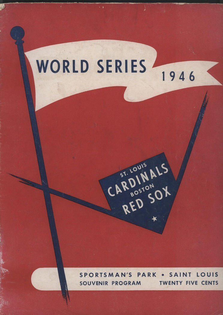 1946 Boston Red Sox vs. St. Louis Cardinals WS Program