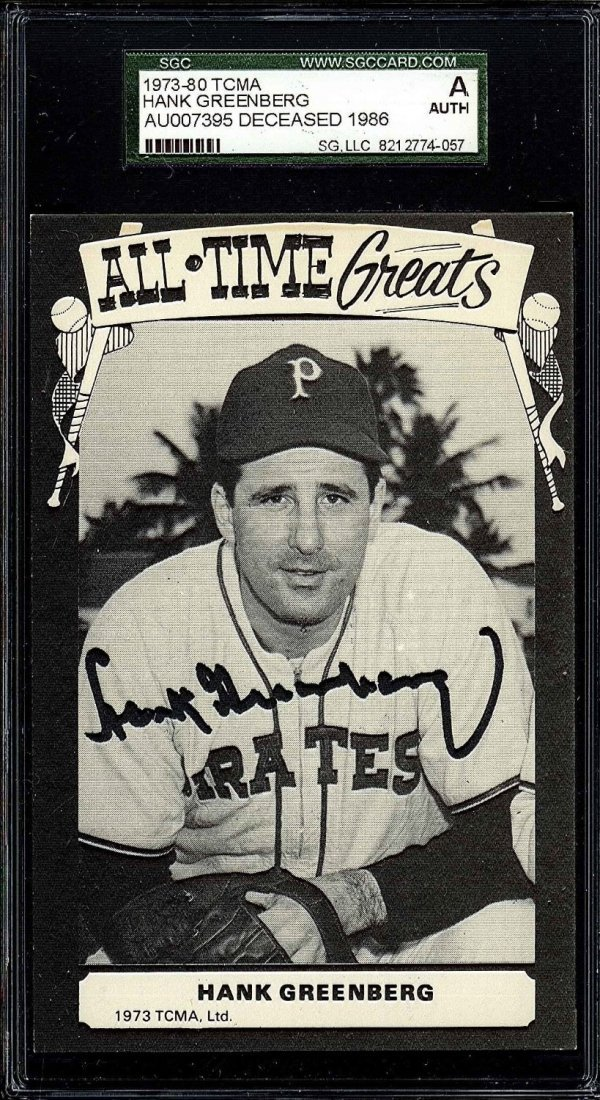 Hank Greenberg Cut Signature Certified by SGC