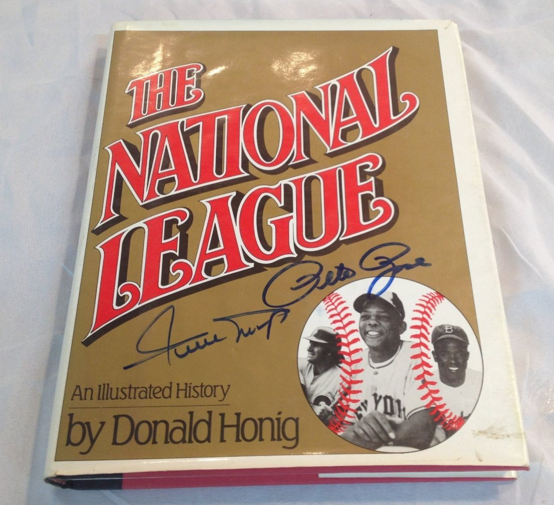 "Willie Mays and Pete Rose Signed Book ""The National"