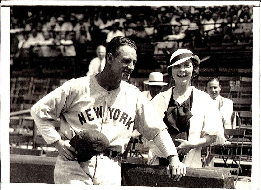 1933 Type 1 Photograph of Lou Gehrig and His Fiance
