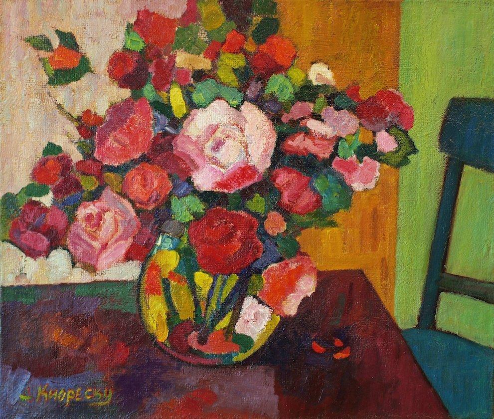 Andrei Kioresku, Large Bouquet of Peonies