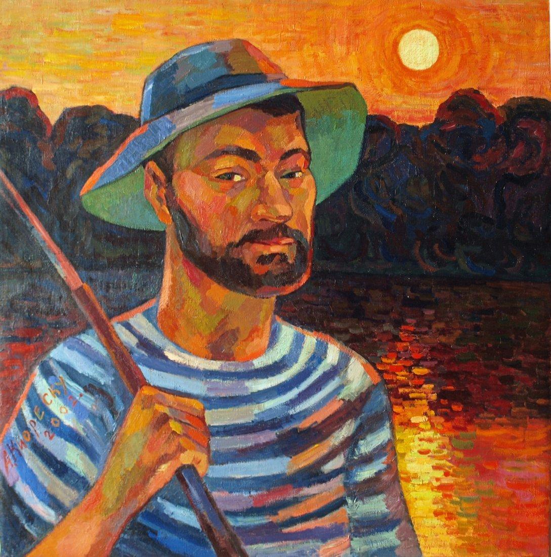 Andrei Kioresku,Portrait of a Fisherman