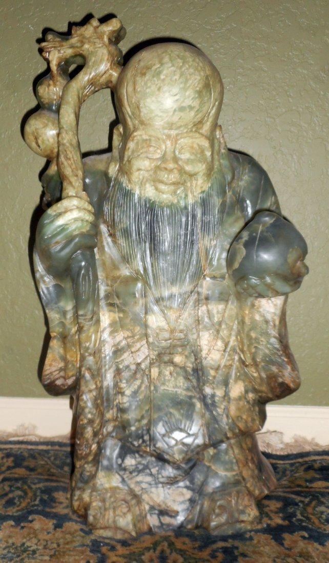 Sau God of Longevity Jadeite Sculpture