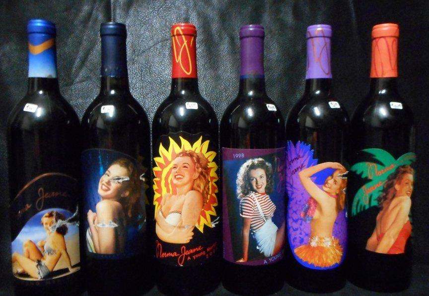 6 Rare Bottles of Marilyn Merlot Wine