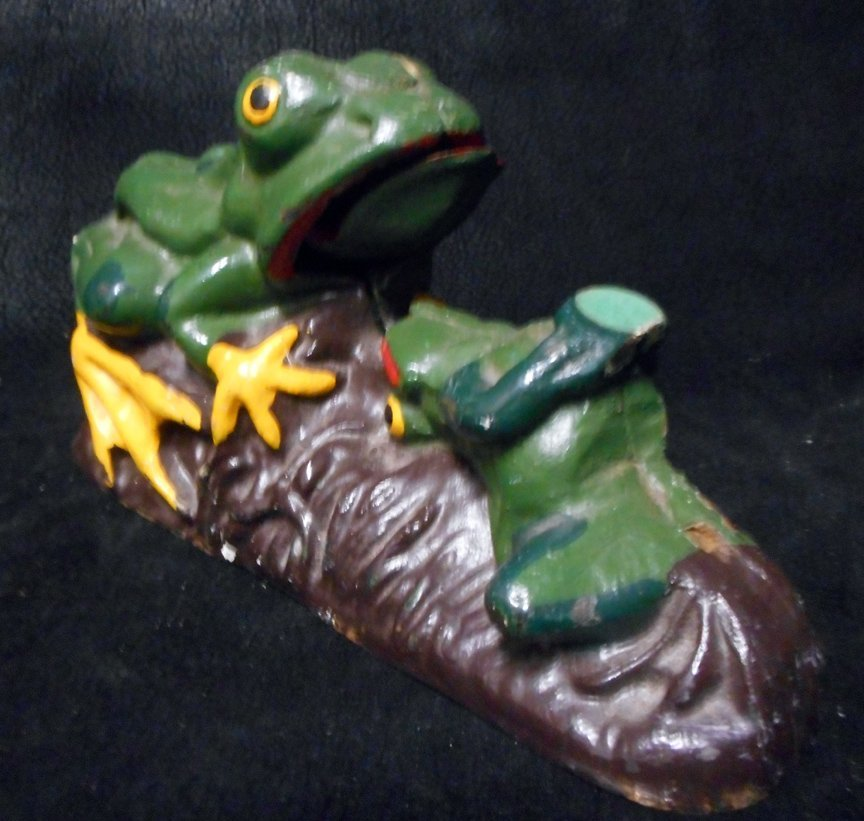Old Cast Iron Frog Bank - 2