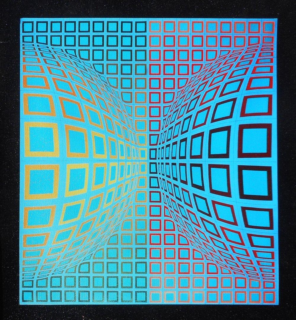Three Canvas Vaserelly Prints