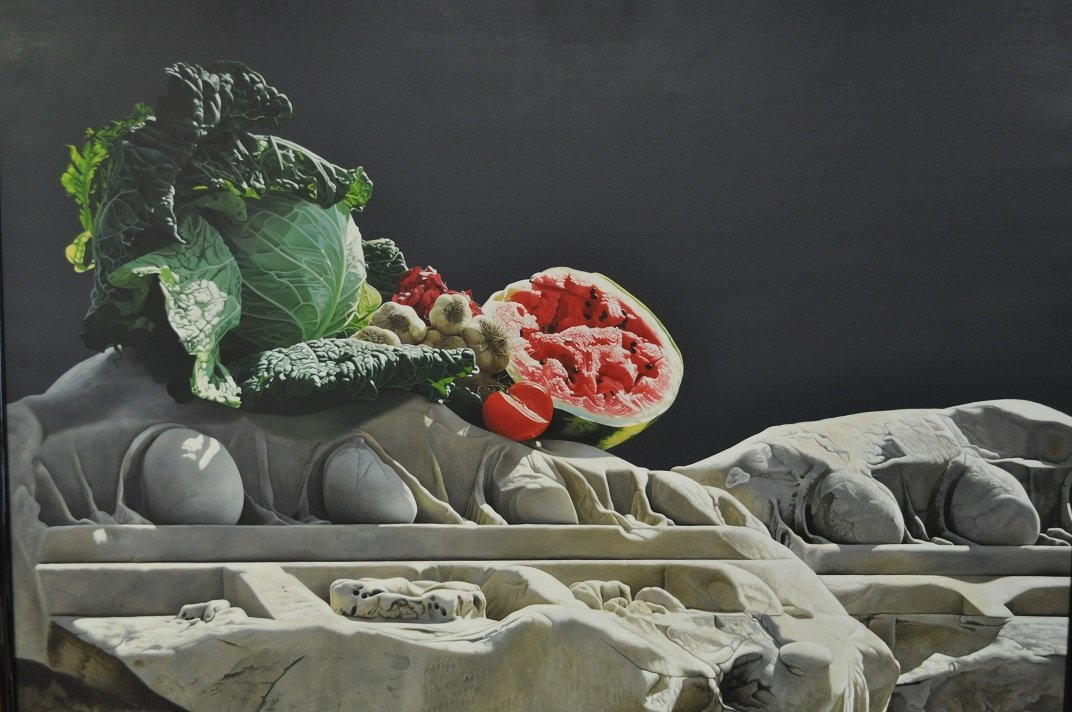 Still Life. Oil on Linen by Luciano Ventrone
